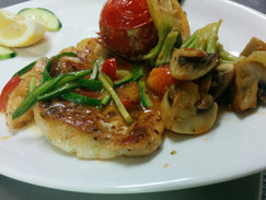 Pike-perch-fillet with vegetables
