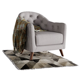Lotus Armchair With Rug And Blanket