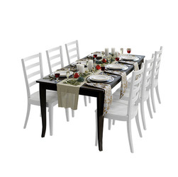 Cb Traditional Holiday Table With Tablew