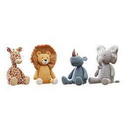Toys - Plush Toys 04 Lion , Elephant , Giraffe And Rhino Plushie
