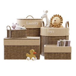 Decor - Kids Room Decor 04 With Baskets And Plush Toys