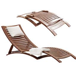 Lounge - Linea Furniture Lucca Wooden Sun Lounge