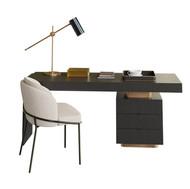 Minotti Carson Desk Set + Fil Noir Chair