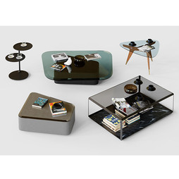 Molteni Tables Set - 5 Tables With Decor