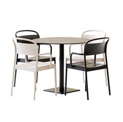 Table Set - Round Metallic Table Edge T