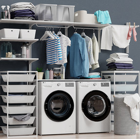 IKEA wall-mounted unit Algot 14 washing