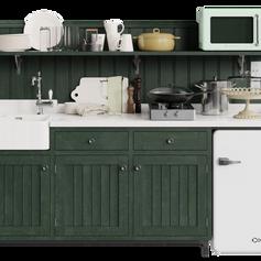 Big kitchen set by Vladimir Radetzki and 3D Shaker