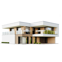 House - Modern 2 Staired House 05