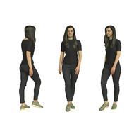 Model girl in black
