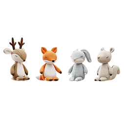 Toys - Plush Toys 01 Deer , Fox , Rabbit And Squirell Plushie