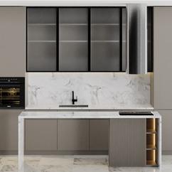 Kitchen - Modern Corner Kitchen Countert