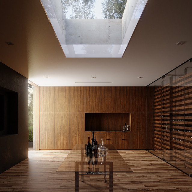 Oak Pass interior by Walter Workshop architects
