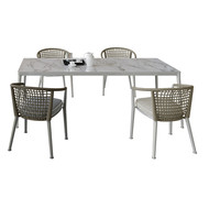 B_b Erica Dinning Set (Table + Chairs +