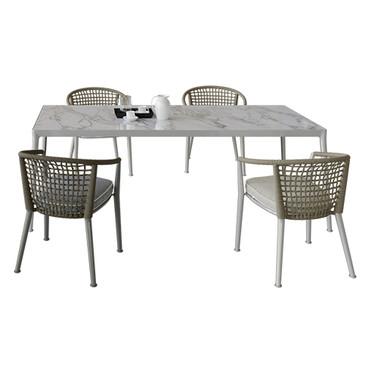 B_b Erica Dinning Set (Table + Chairs +