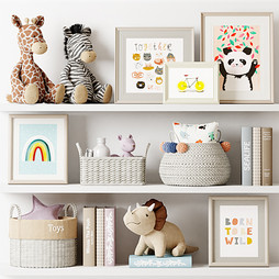 Deco - Kids Room Decor 06 With Plush Toys ,Pictures And Books.jpg