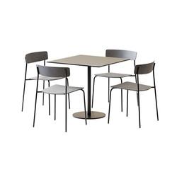 Table Set - Square Table Tiffany Column