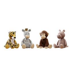 Toys - Plush Toys 05 Hippo , Monkey , Zebra And Leopard Plushie