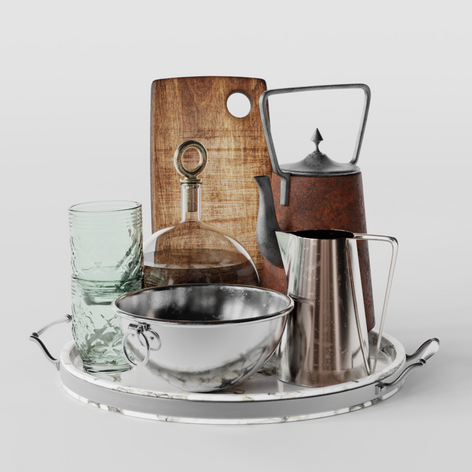 Set Kitchenware by Vladimir Radetzki and 3D Shaker
