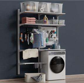 IKEA wall-mounted module Algot 12 washin
