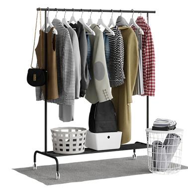 Ikea Rigga Floor Hanger With Clothes