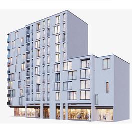 Building - Modern Residential Building 02