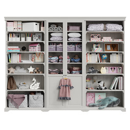 Childroom storage with toys