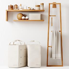 Decorative Bathroom Wooden Set 12 With Barns