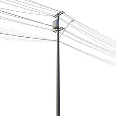 electricity pole by Henrique Eller