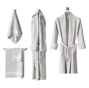 Bathrobe - Bath Robe In 2 Variations + Towels On Hanger
