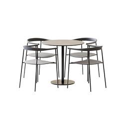 Table Set - Round Table Tiffany Column S