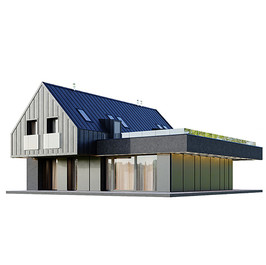 House - Black Modern House 10 With Garag