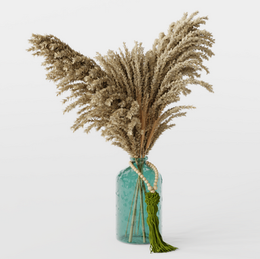Flower - Pampas Dried Decoration In Vase - Wheat Home Deco