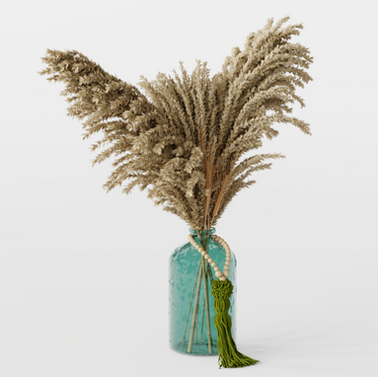 Pampas Dried Decoration In Vase