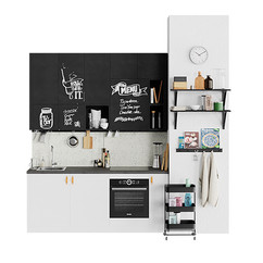 Simple Black And White Kitchen