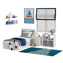 Universal childrens room blue