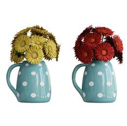 Gerbera Daisies In Vase 2colors