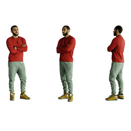 Man in red sweater