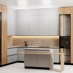 Kitchen - Modern Kitchen Scene 21