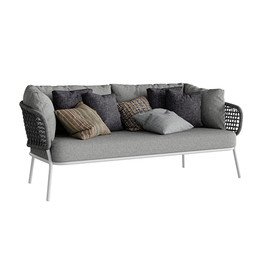 Moon Alu Two-seader sofa