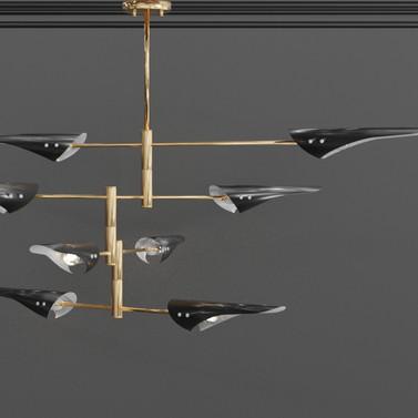 Minimalist 8 Light Chandelier