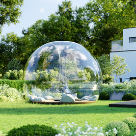 Garden With Glass Shelter