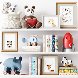 Decor - Kids Room Decor 12 With Wooden Toys ,Plush Toys,Pictures And Books.jpg