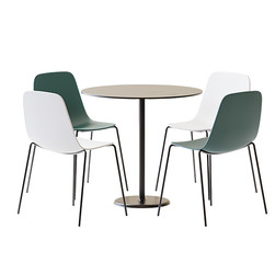 Table Set - Metallic Round Table Alfiere
