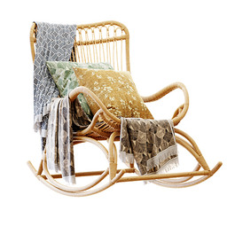 Armchair - Hollingsworth Rocking Chair With Pillows And Plaid.jpg