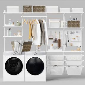 Laundry Room - Ikea Algot 13