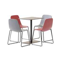 Table Set - Metallic Square Table Sibi B