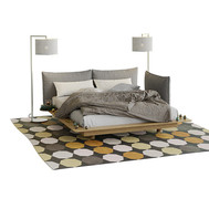 Yoma Bed Wit Winter Decorations