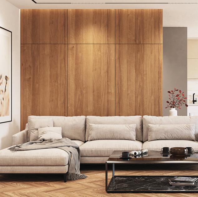 Modern interior scene