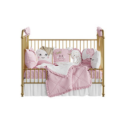 Rose Gold Incy Interiors Ellie Cot 01