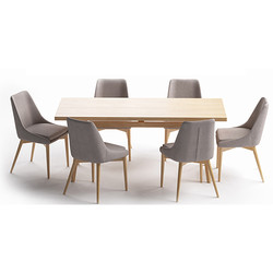 Set Marble And Boras (Kitchen Table + Ch